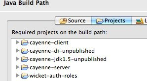 Eclipse: Cayenne dependencies