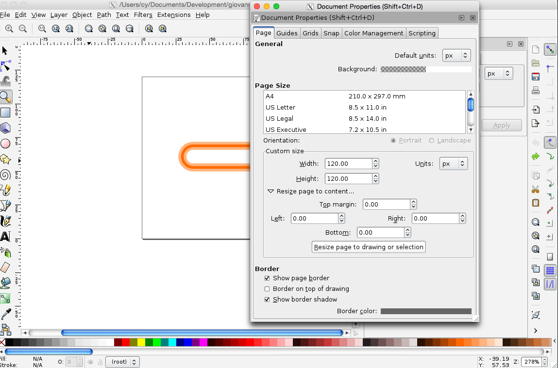 Remove white space around SVGs using Inkscape